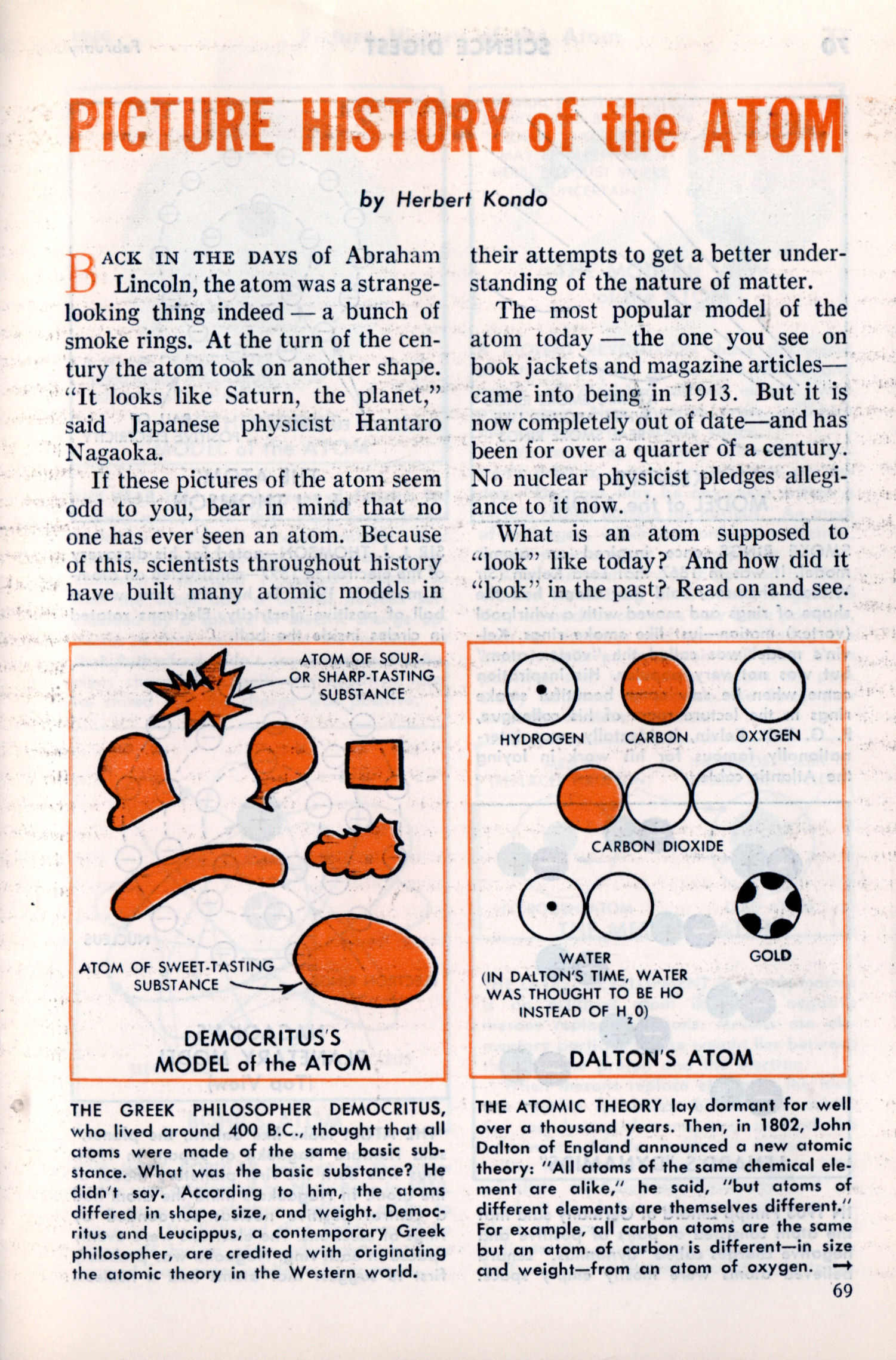 Democritus Atomic Model Diagram