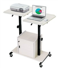 video conferencing av/presentation cart with locking storage
