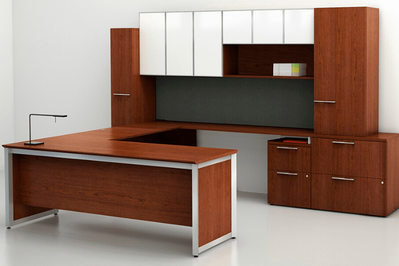 Pinnacle Large Custom U-Shaped Workstation