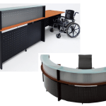 Variety of laminate reception desks