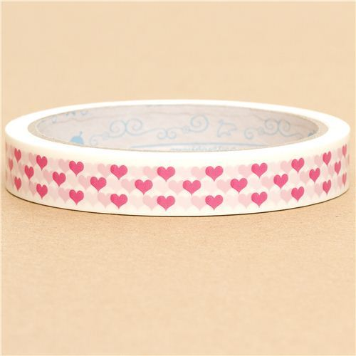 cute pink hearts Deco Tape kawaii
