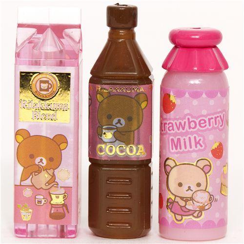 cute Rilakkuma bear pencil cap by San-X bottle