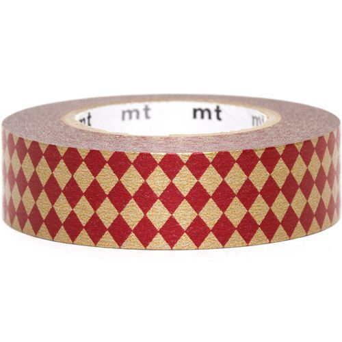 red mt Washi Masking Tape deco tape with diamonds