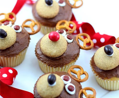 The super cute reindeer muffins are easy to make