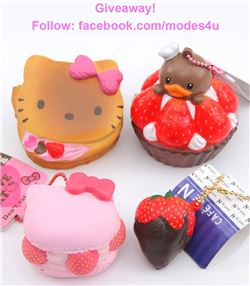 modes4u Dessert Squishies Giveaway , ends October 23rd, 2017