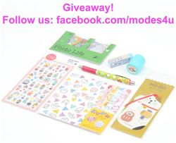 modes4u Kawaii Stationery Giveaway, ends April 2nd, 2018