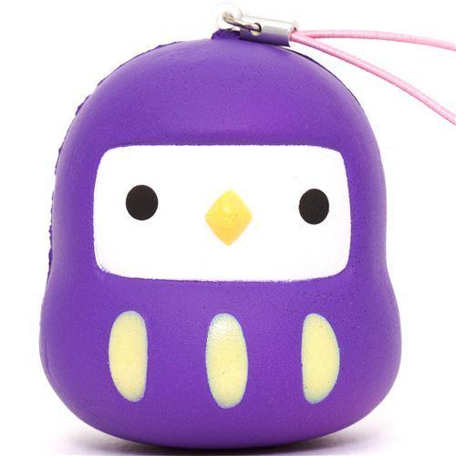 purple bird squishy cellphone charm