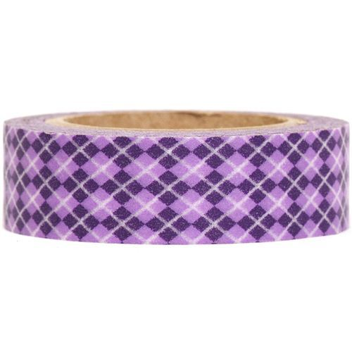 argyle Washi Masking Tape deco tape in purple