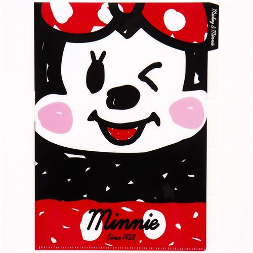 A4 plastic file folder 5-pocket Mickey & Minnie Mouse