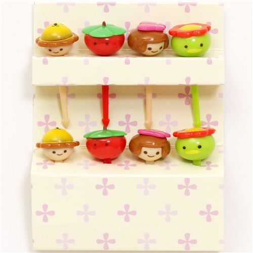 kawaii food picks for Bento Lunch Box children tomato duck