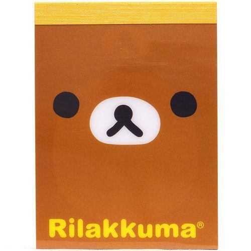 mini Memo Pad Rilakkuma bear face by San-X