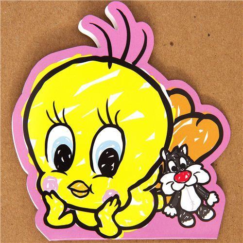 kawaii Tweety sticker sack canary