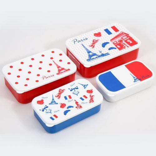 France Eiffel Tower Bento Box 4 pcs Lunch Box