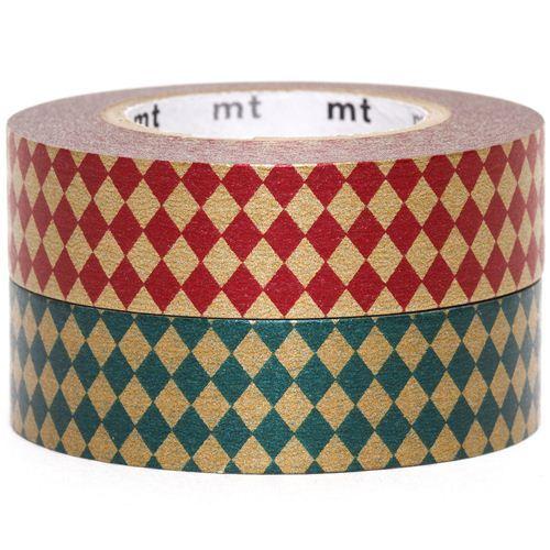 mt Washi Masking Tape deco tape set 2pcs with diamonds