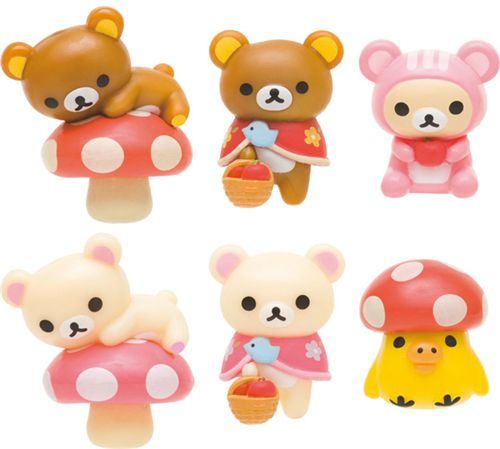 Rilakkuma Murshroom bath bomb salt with surprise toy