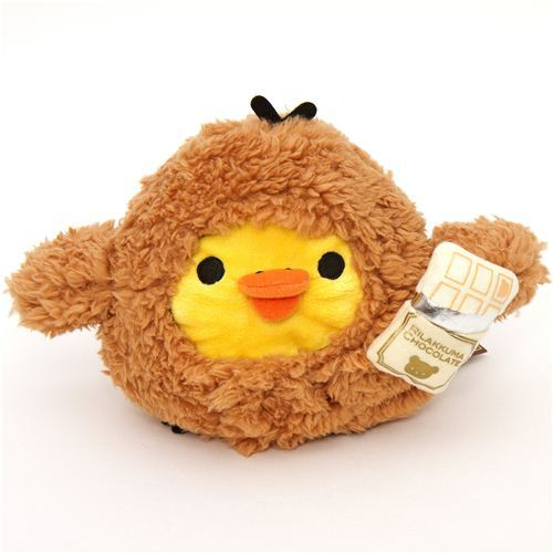Rilakkuma plush toy yellow chick chocolate suit