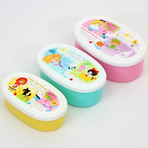 fairy tale Bento Box 3 pcs Snow-white Little Red Riding