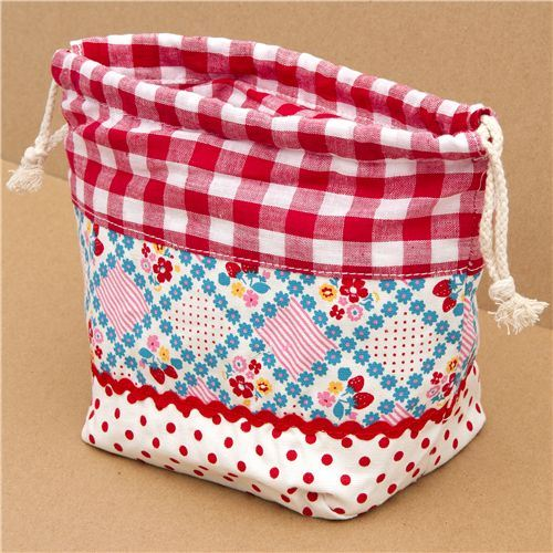 flower fabric thermo lunch bag for bento boxes