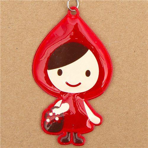 reflective Little Red Riding Hood umbrella charm