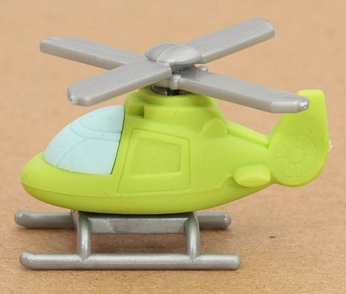 green helicopter eraser from Japan by Iwako
