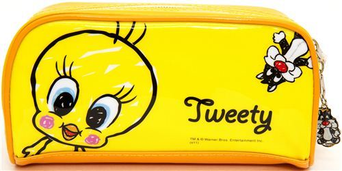 yellow pencil case Tweety & Sylvester from Japan