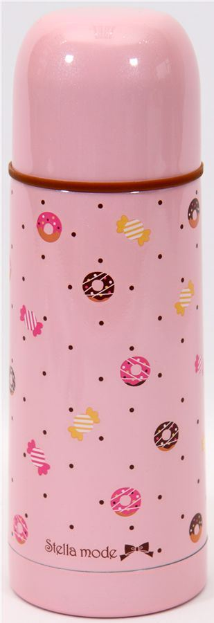 cute Thermo bottle with donuts candy dots Japan