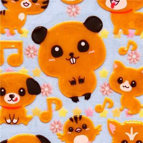 orange reflective stickers hamster dog cat