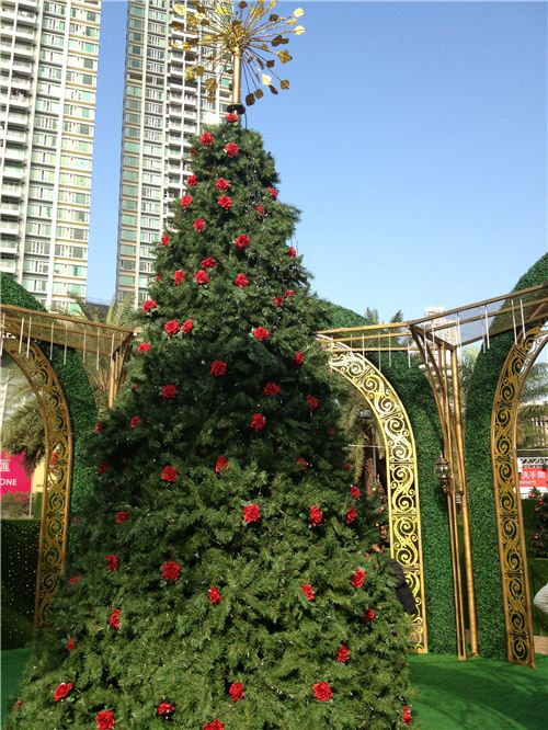 The big Christmas Tree was the centre of the maze