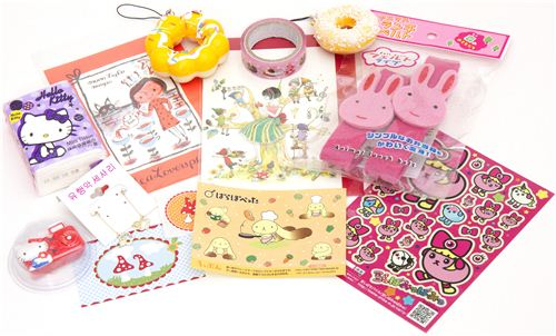 kawaii Giveaway package No.1 with rabbit bento box straps