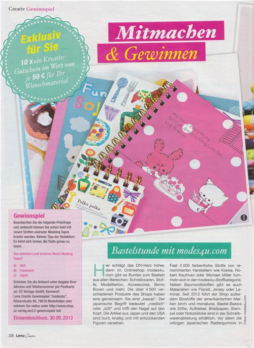 The German magazine introduces our big competition on a double-page spread