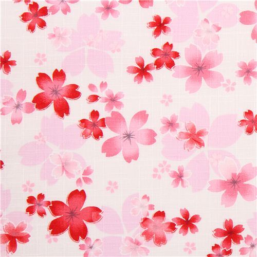 off-white structured flower cherry blossom dobby fabric from Japan