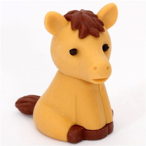 cute Japanese horse eraser from Iwako