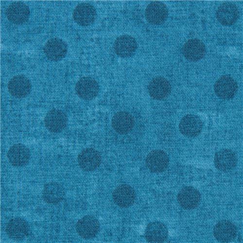 blue fabric polka dot Gorjuss Quilting Treasures