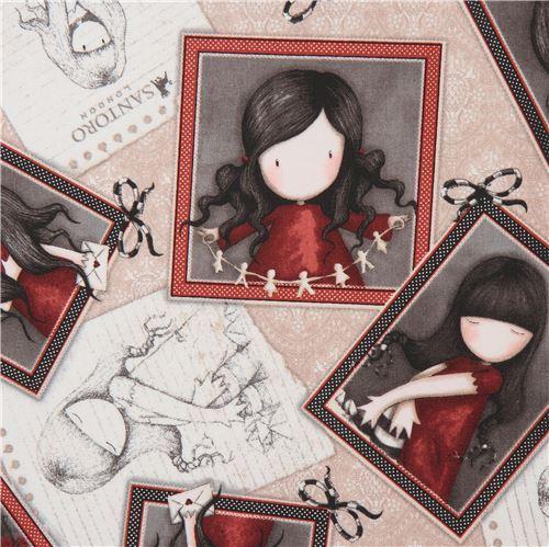 light brown fabric cute children picture frame Gorjuss Quilting Treasures