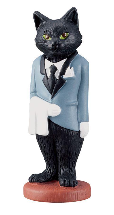 black cat waiter figurine from Japan