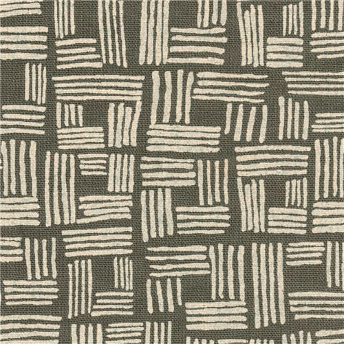 grey-green Robert Kaufman shape fabric