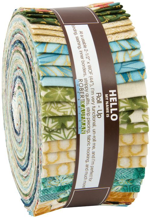 Roll-up fabric roll Vintage Colorstory gold metallic Robert Kaufman