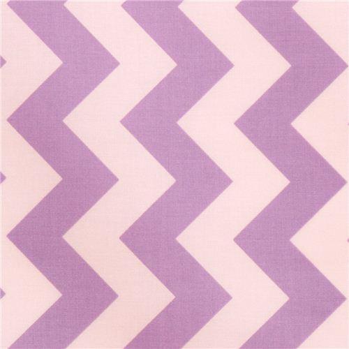chevron Riley Blake laminate fabric lavender white