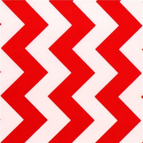 chevron Riley Blake laminate fabric red white