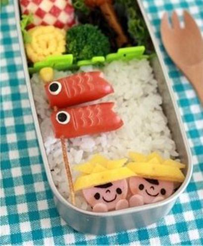 Heavenly delicious. This cute 'Koinobori' Bento