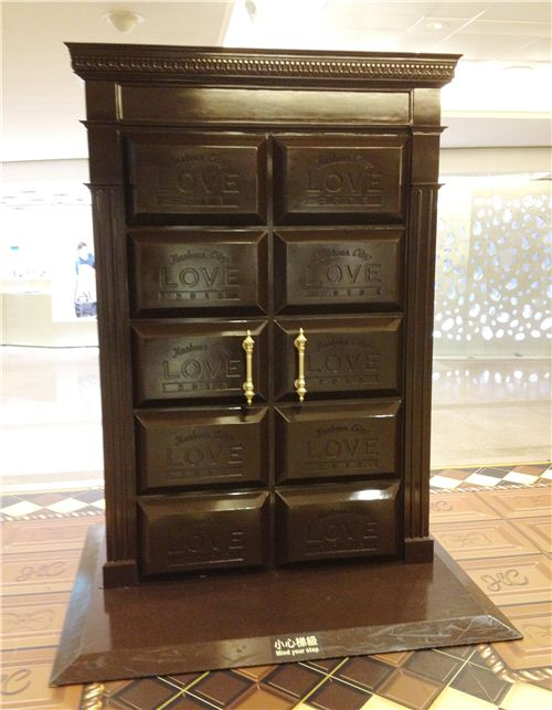 What is behind this chocolate door?