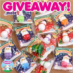 Christmas Iwako Erasers Giveaway with Super Cute Kawaii (ends on Oct 6th, 2015)