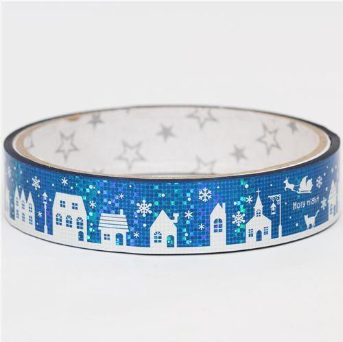 beautiful glitter snow landscape Deco Tape Christmas