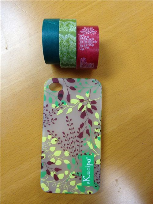 What you need: a phone case and Washi Tape