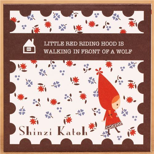 mini envelope Little Red Riding Hood fairy tale Shinzi Katoh