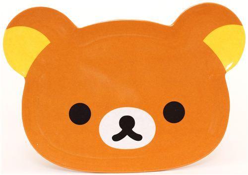 Rilakkuma brown bear plate bento dish dessert plate