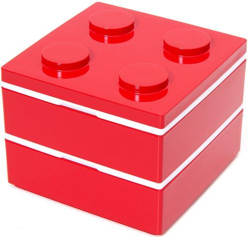 funny red building block Bento Box from Japan