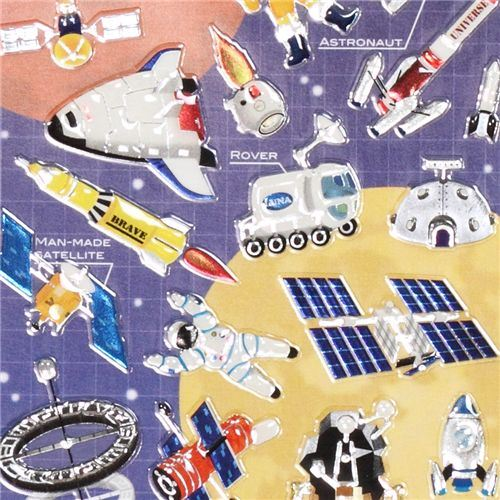 astronauts epoxy sticker by Mind Wave