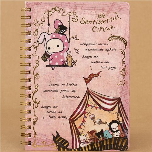 cute Sentimental Circus rabbit ring binder notebook San-X