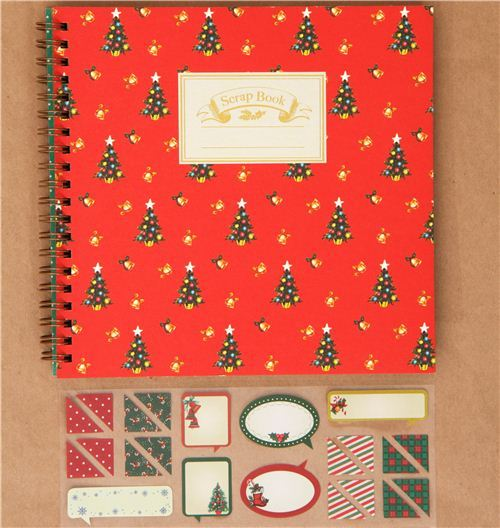 red Christmas Scrapbooking kit from Japan Christmas Tree